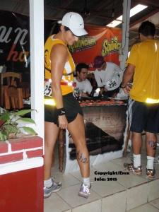 Media maratón Moonrun, 2009, Playa Dominical, Costa Rica.